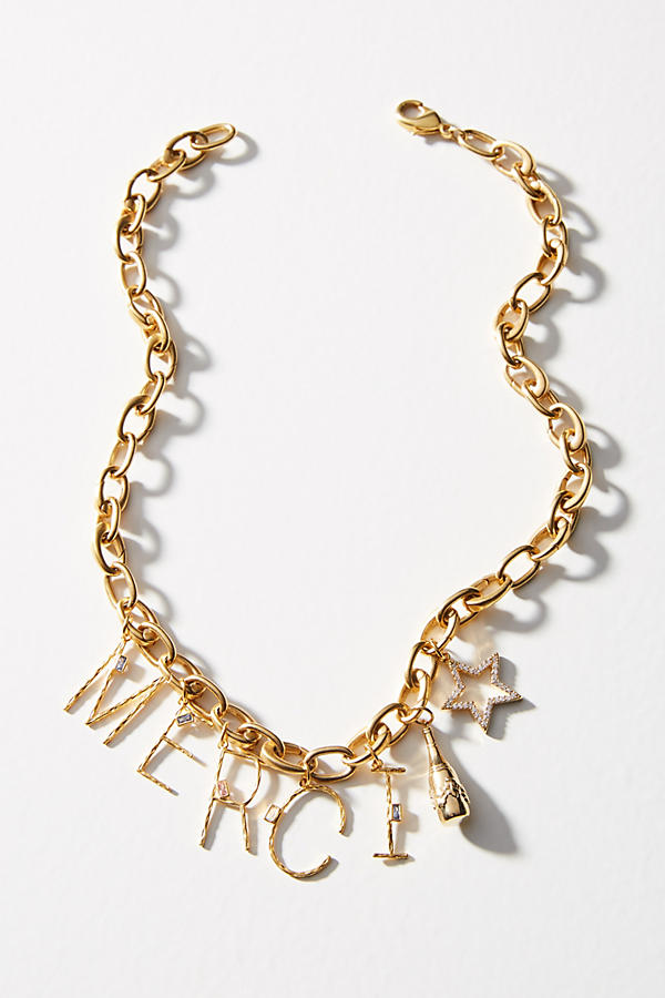 Slide View: 3: Charmed Link Necklace
