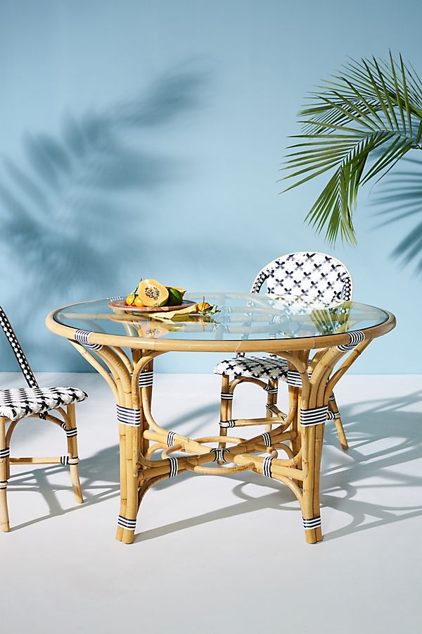 Slide View: 1: Rattan Indoor/Outdoor Bistro Table