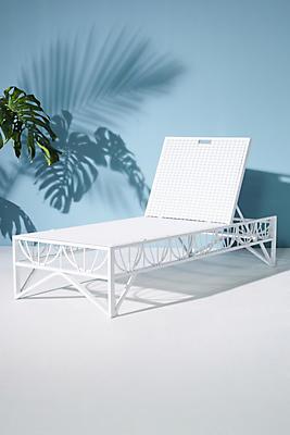 Slide View: 1: Poolside Indoor/Outdoor Lounge Chair
