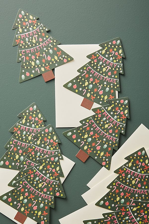 Merry Christmas Card Set | Anthropologie