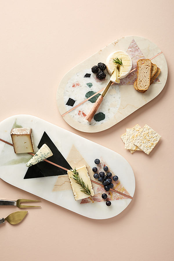 Barbaza Marble Cheese Board - Ivory, Size Cttngboard