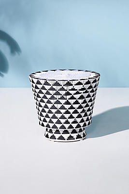 Slide View: 1: Woven Tahiti Indoor/Outdoor Side Table