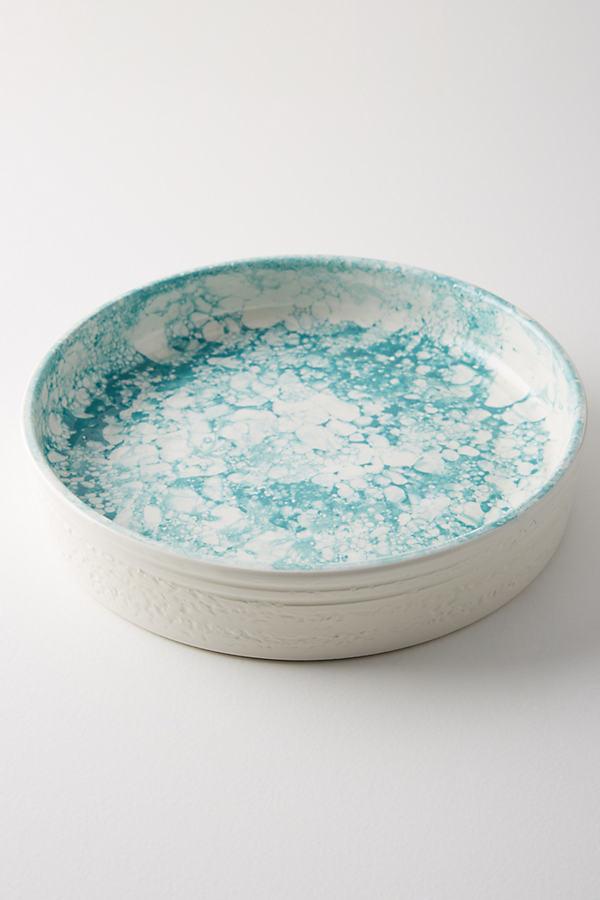 Glenna Pie Dish - Turquoise, Size Pie Dish