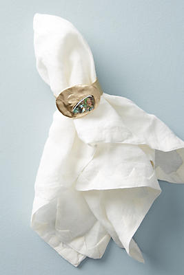 Slide View: 1: Forged Abalone Napkin Ring