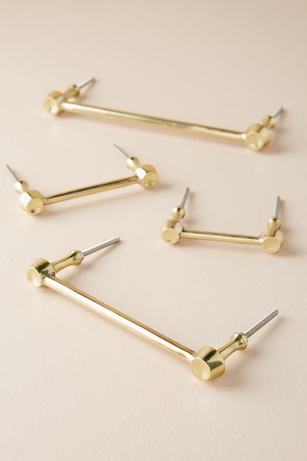 Hammered Brass Handle - Bronze