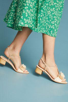 Pour La Victoire   Pour La Victoire Raffia Heeled Sandals  -    CREAM