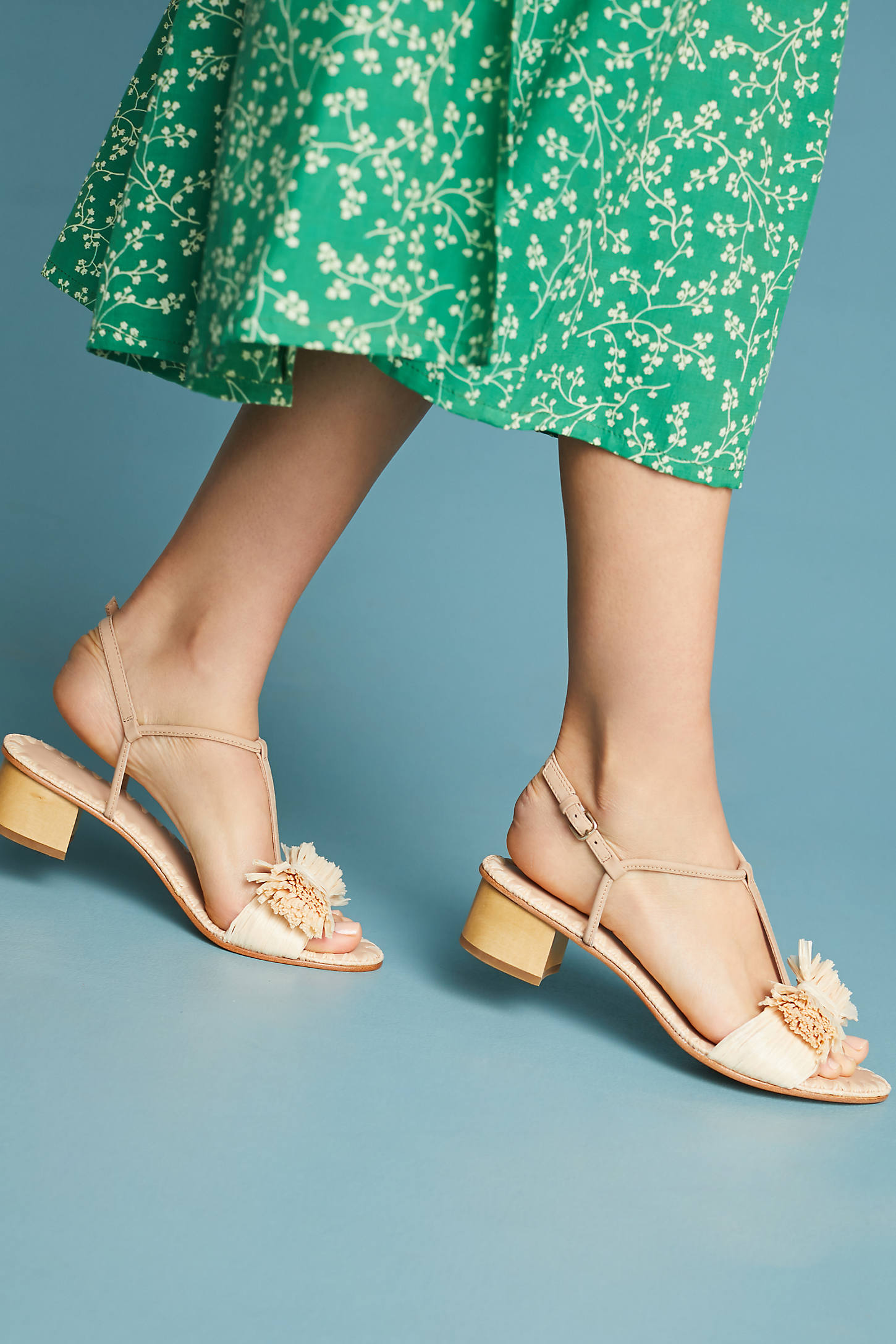 Pour La Victoire Raffia Heeled Sandals