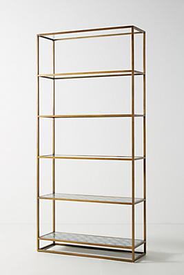 Slide View: 1: Art Deco Etagere Bookcase