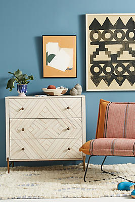 Slide View: 1: Embury Three-Drawer Dresser