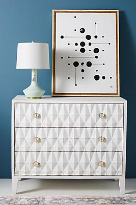Slide View: 1: Espalier Three-Drawer Dresser