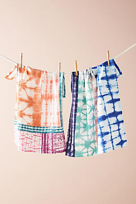 Slide View: 1: Dyed Dish Towel Set
