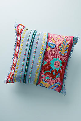 Slide View: 1: Embroidered Edith Pillow