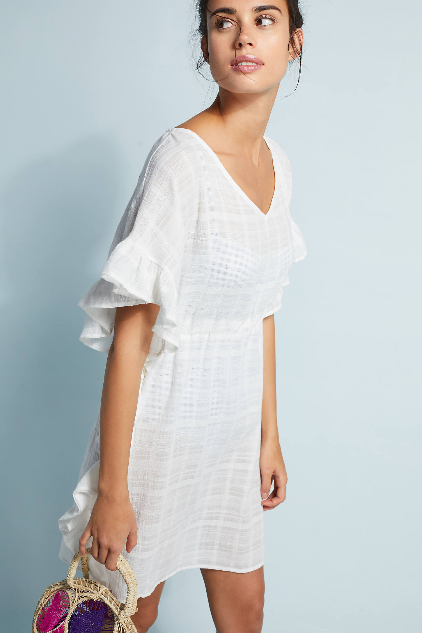 Ruffled Cover-Up Tunic