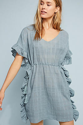 Slide View: 1: Ruffled Cover-Up Tunic