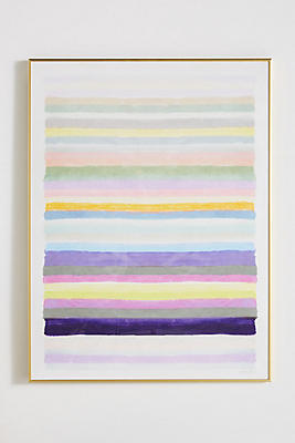 Slide View: 1: Spring Stripes 3 Wall Art