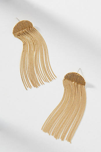 Celeste Fringed Drop Earrings