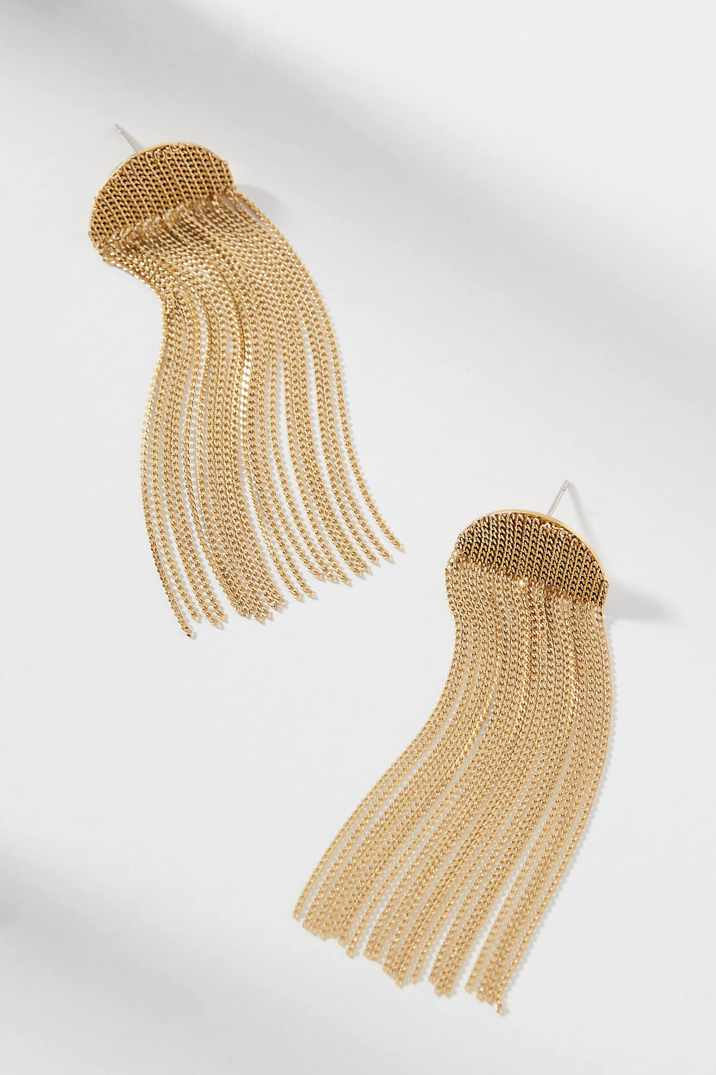Celeste Fringed Drop Earrings