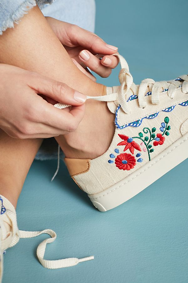 Slide View: 1: Soludos Ibiza Embroidered Sneakers