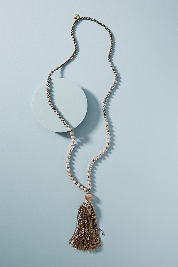 Moonstone Pendant Necklace - Sand