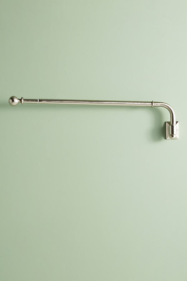 Clarence Swing-Arm Curtain Rod - Silver