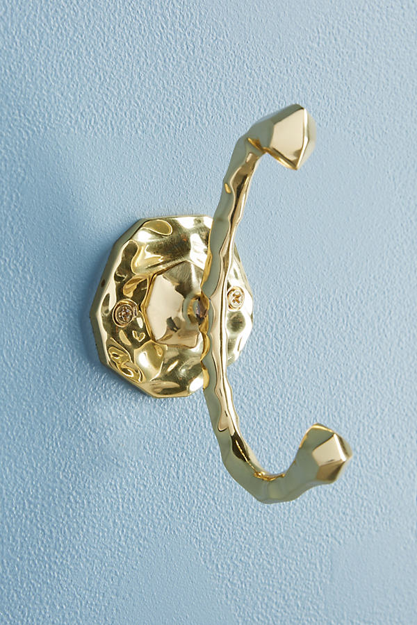 Forged Brass Towel Hook - Gold, Size Xs