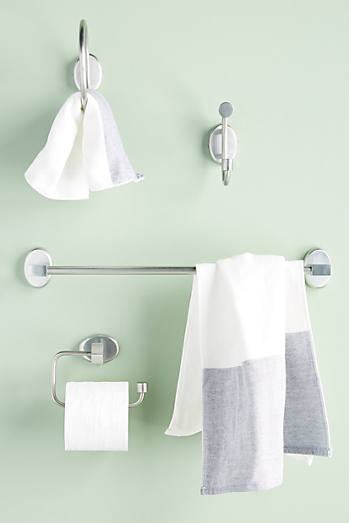 Brushed Geo Towel Bar