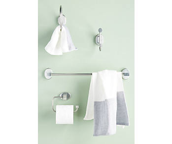 Slide View: 4: Brushed Geo Towel Bar