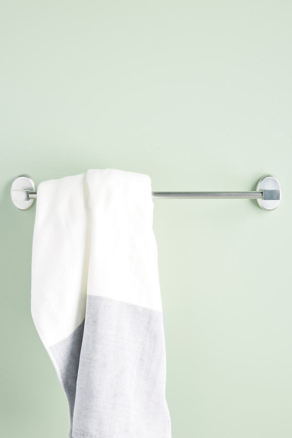 Brushed Geo Towel Bar - Grey