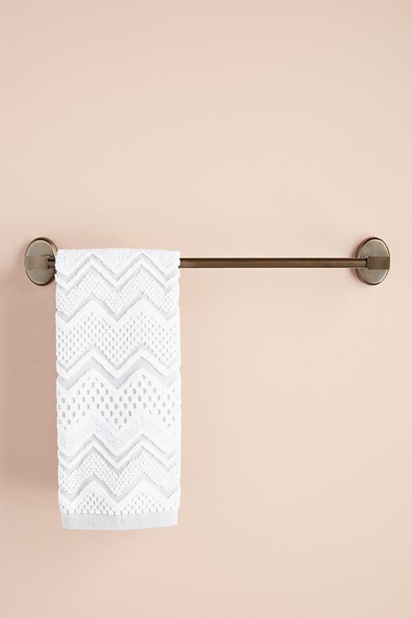Brushed Geo Towel Bar - Brown