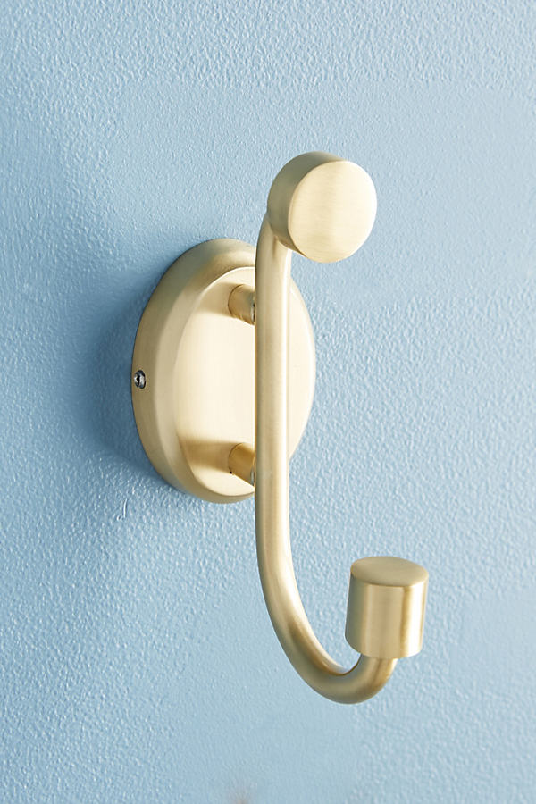 Brushed Geo Towel Hook - Yellow, Size S