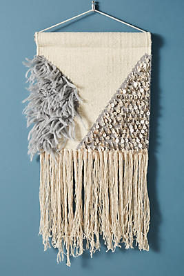 Slide View: 1: Lucy Fringed Wall Hanging