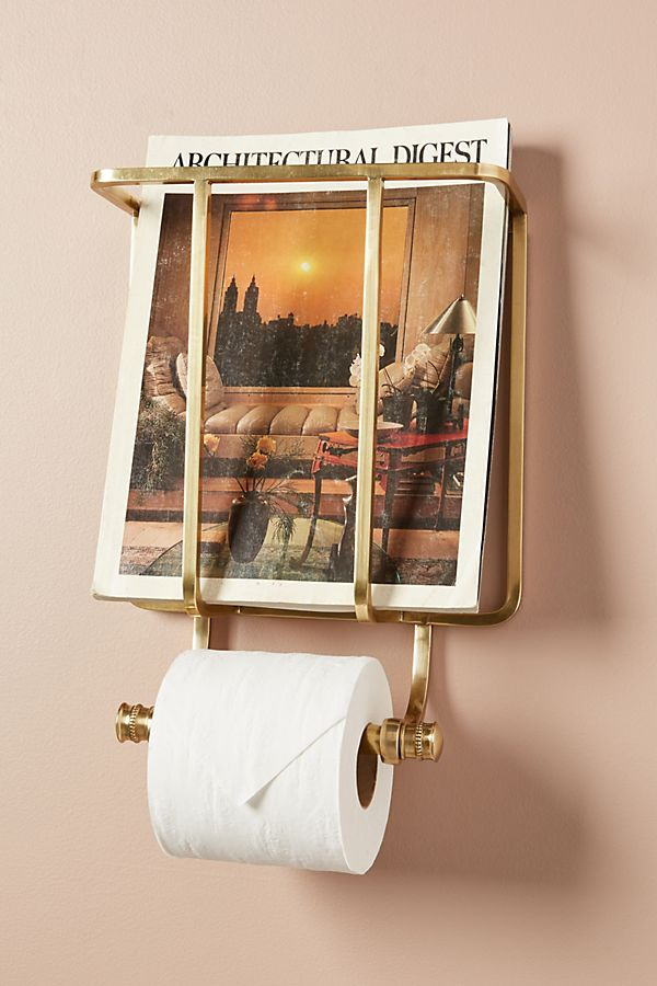 Slide View: 1: Magazine And Toilet Paper Holder