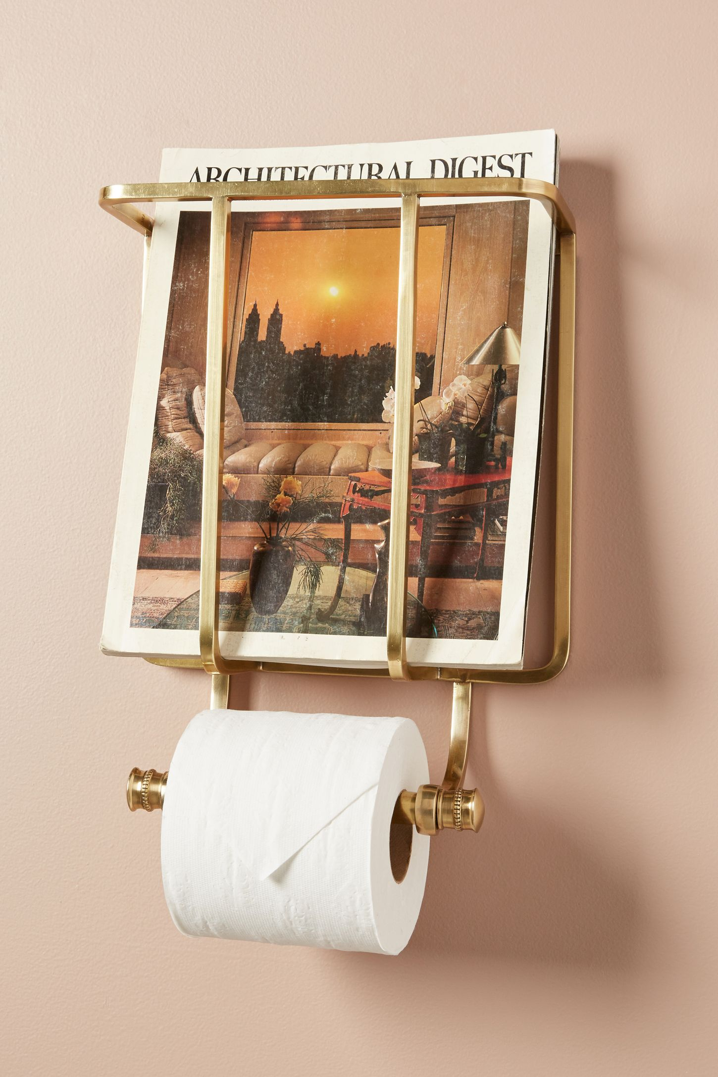 Magazine And Toilet Paper Holder