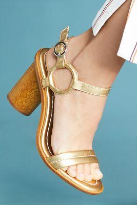 Bernardo   Bernardo Harlow Heeled Sandals  -    GOLD
