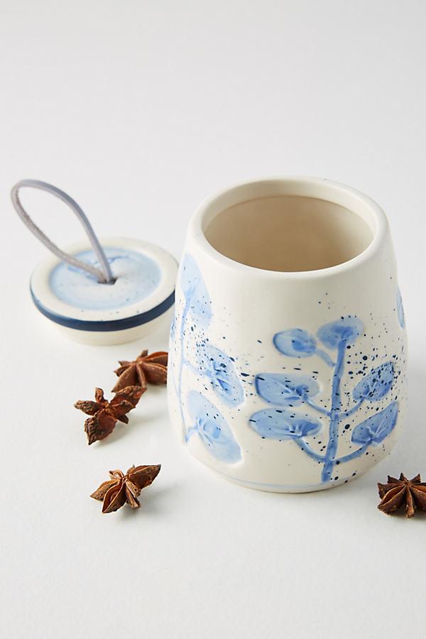 Alexi Spice Jar - Blue Motif, Size Spice Jars