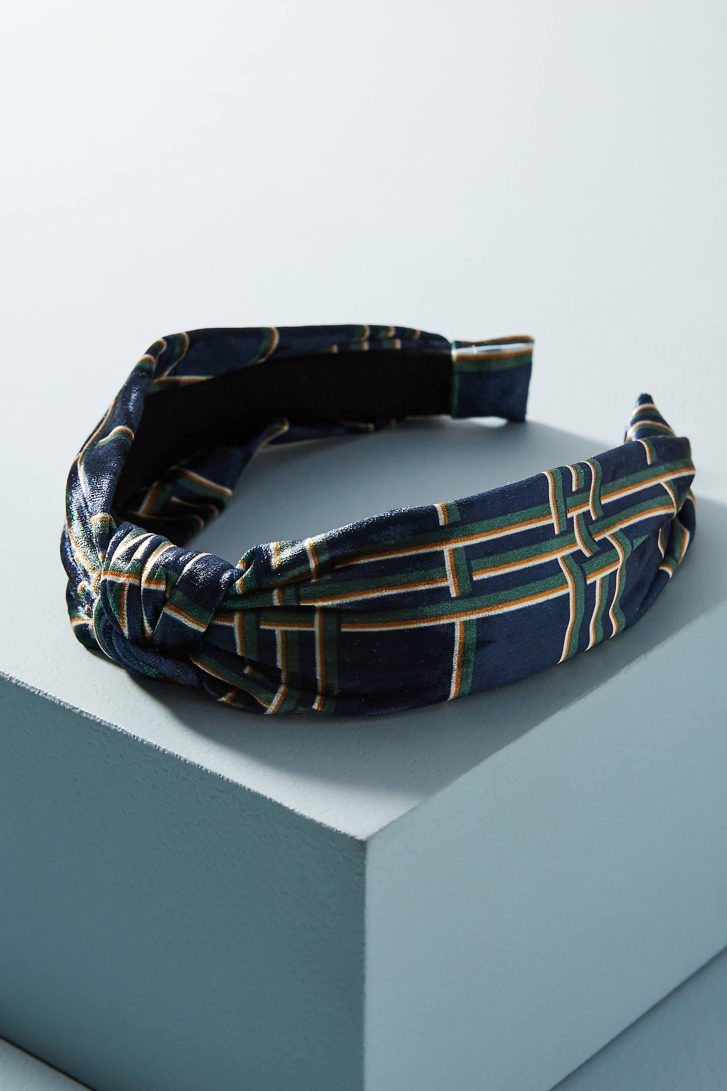 Velvet Plaid Headband
