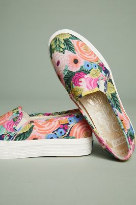 Keds   Keds x Rifle Paper Co. Juliet Slip-on Sneakers  -    ROSE