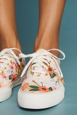 Keds   Keds x Rifle Paper Co. Lively Sneakers  -    WHITE