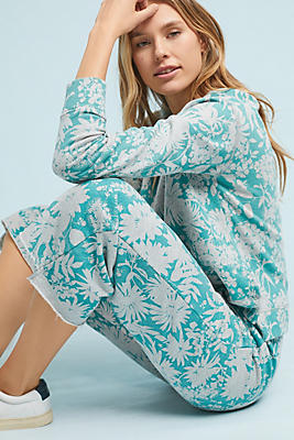 Slide View: 1: Sundry Flared Floral Sweatpants