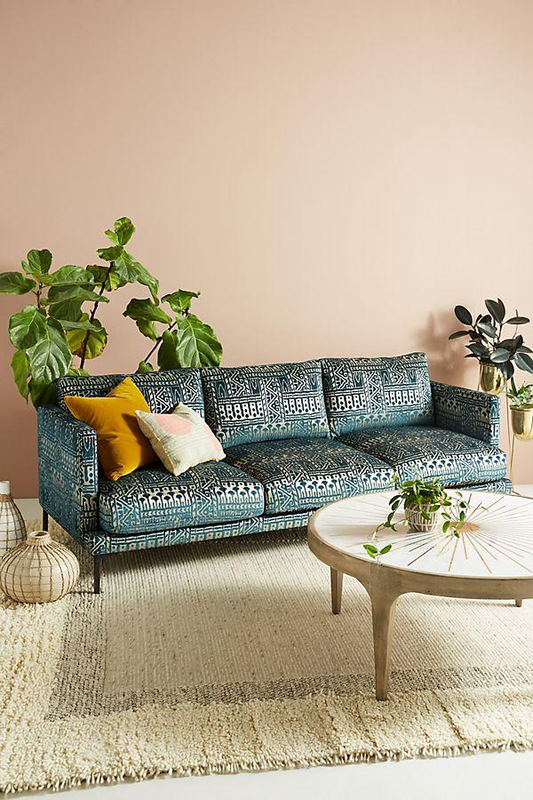 Slide View 1 Rosa Print Linde Three Cushion Sofa