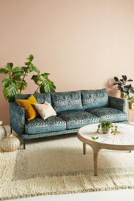 Rosa Print Linde Three Cushion Sofa