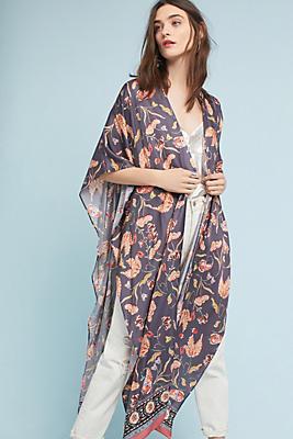 Slide View: 1: Minerva Silk Kimono