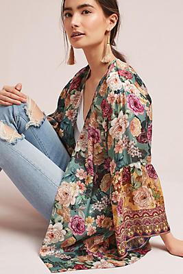 Slide View: 1: Rachelle Silk Kimono