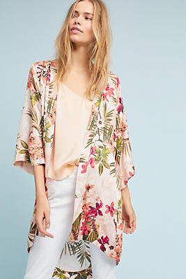 Slide View: 2: Catalina Silk Kimono