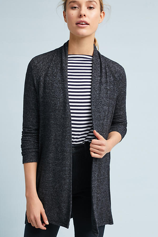 Brushed Fleece Cardigan | Anthropologie