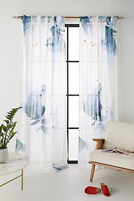 Slide View: 1: Watercolor Garden Curtain