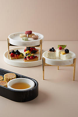 Slide View: 2: Betti Two-Tier Cake Stand