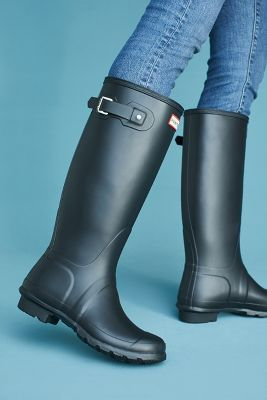 Hunter   Hunter Original Tall Rain Boots  -    BLACK