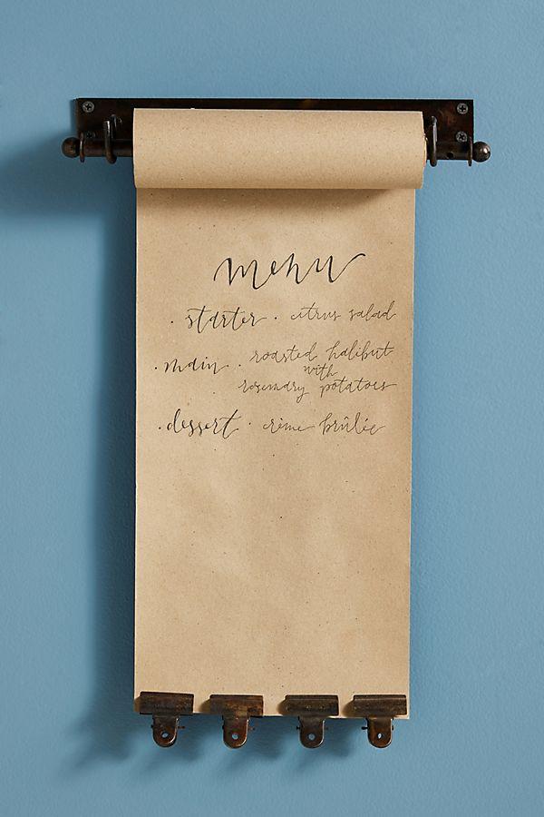 Slide View: 1: Kraft Paper Roll Holder And Clip Set