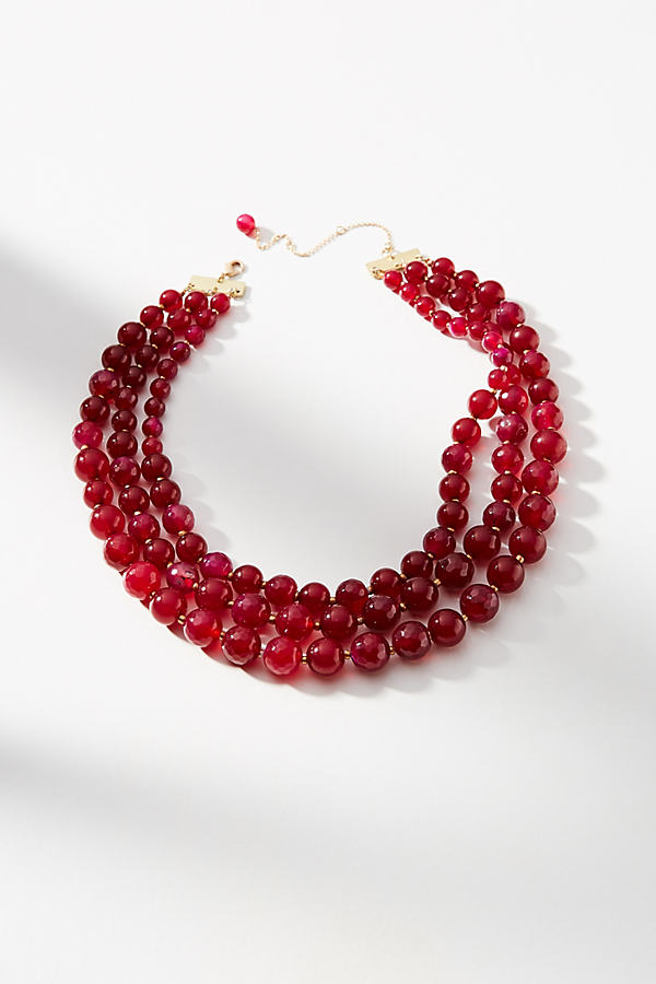 Ulani Layered Necklace - Wine